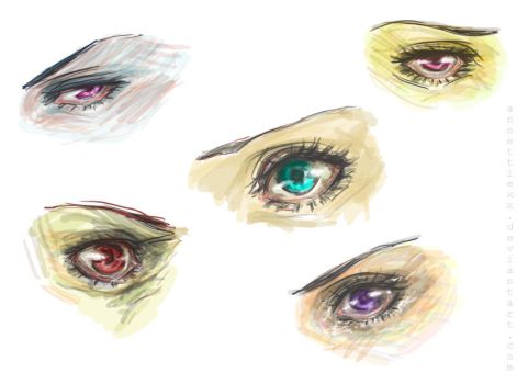 Semi-Realistic Eyes... by mlle-annette