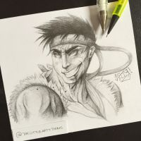 Ryu Sketch  by TheLittleArtyThing