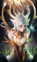 White Deer by sakimichan