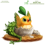 Daily Paint 2088. Basil-isk by Cryptid-Creations
