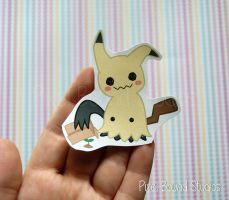 Mimikyu Sticker and Magnet by pixelboundstudios