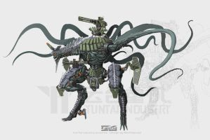 tentacle mecha by marksanwel