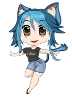Eiko Chibi Vector by NewWestGames