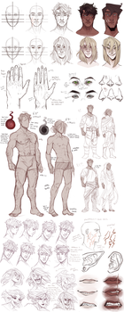 Mattheus/Kassian refs (bios update) by CanaryWitch