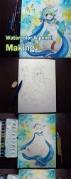 Monster musume online: Miti drawing progress by 1elda1