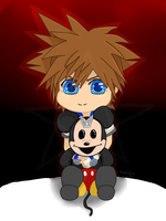 Sora and teddy Mickey by Brillant241