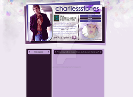 Ian Somerhalder Foundation Layout by Lexigraphic