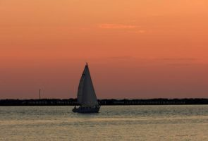 .sailboat at dusk. by Foozma73
