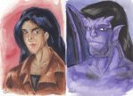 Gargoyle Portrait Elisa and Goliath by WaldelfLarian