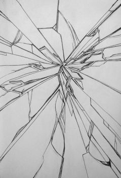 Inktober Day 12: Shattered  by Hjemi
