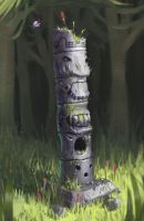 Ancient Dush Totem by Cyberworm360
