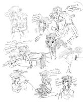 AramOz (mostly oz) sketches by Sourful