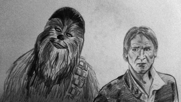 Han and Chewie by pilouuuu