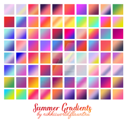 Summer Gradients by cherryproductionsorg