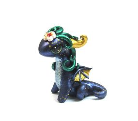 Little Dragon. Purple and gold by MiniatureCreatures