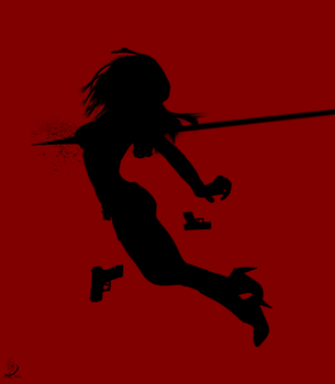 Speared Silhouette by ladytania