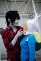 Adventure Time ~ Marshall Lee and Fionna by Yamato-Leaphere
