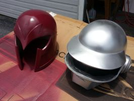 Progress on Magneto and Daft Punk replica helmets by JohnsonArmsProps