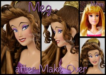 repainted ooak singing megara doll. by verirrtesIrrlicht