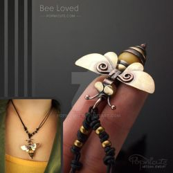 Bee Loved Cute Copper Brass Necklace by popnicute