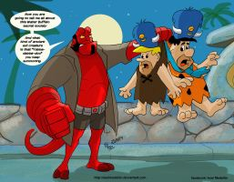 TLIID special: Hellboy in Bedrock by AxelMedellin