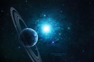 Into the blue space by paul-cz