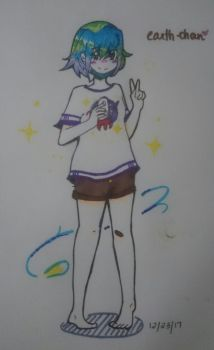 Earth-chan by PixelBits02