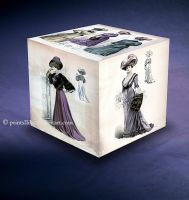 Vintage Fashion Cube by printsILike