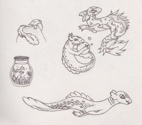 sea monsters by cuppycakekitty