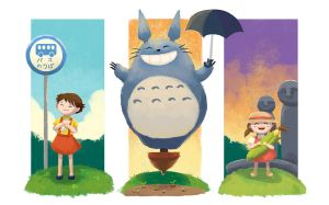 My Neighbor Totoro by MTerrenal