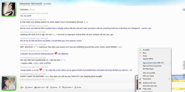 Why Ciel Stopped Using MSN... Part 1 by cherriPOPbabe