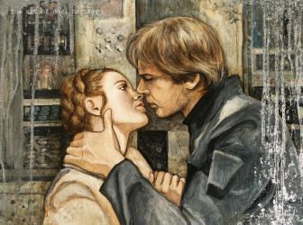 Leia and Han by Lucival