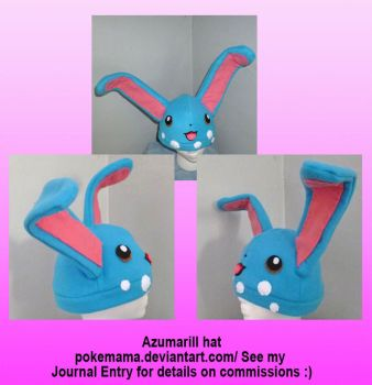 Azumarill hat by PokeMama