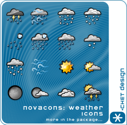 Novacons Weather Icons by digitalchet