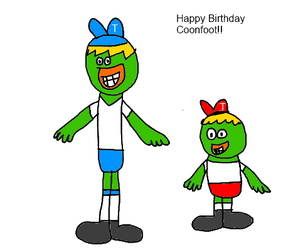 Late Birthday to Coonfoot by KallyToonsStudios