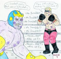 Boxing Mr Incredible vs Thanos by Jose-Ramiro