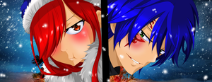 Jerza Christmas / Fairy tail Christmas Omake 2015 by Mirajanee