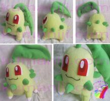 chikorita plush by chocoloverx3