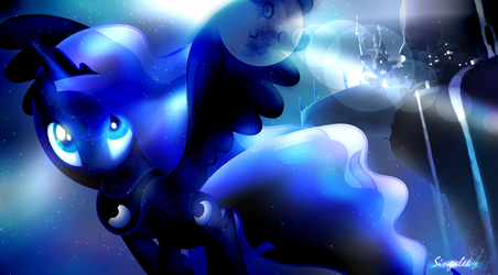 MLP Luna Wallpaper - Shiny Night Flight by Singalek-onYOUTUBE
