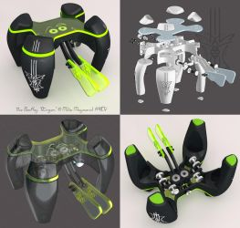 K4ICY BeeKey 'Stinger' Dual-Lever Paddle by MikeK4ICY