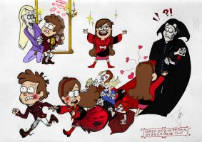 Vampires in Gravity Falls (the panel - simple ver) by Flive-aka-Nailan