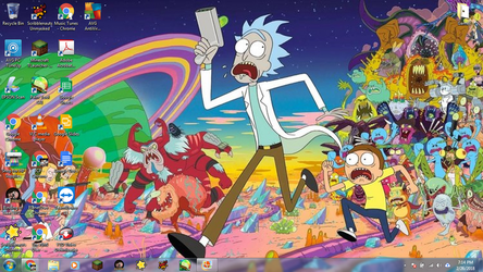 Windows 7 Desktop: Rick and Morty by jcpag2010