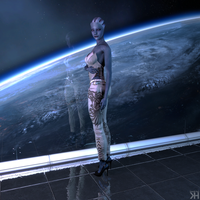 Liara in Front of Space by Grummel83