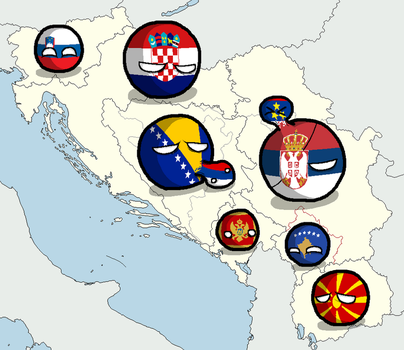 Former Yugoslavia - 2018 Countryballs by WhiteEaglePL