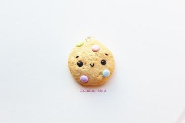 Kawaii Pastel Cookie Pendant by CharmStop