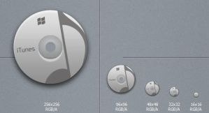 Grey iTunes Icon by blymar