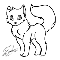 Wolf Lineart by Nouchie