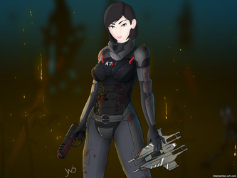 Mass effect, My Shepard by interjectionyeah