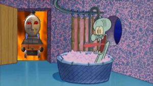 Demon Alfred drops by Squidward's House by Wildcat1999