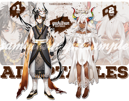 [auction/OTA] horned set [closed!] by yukibuns